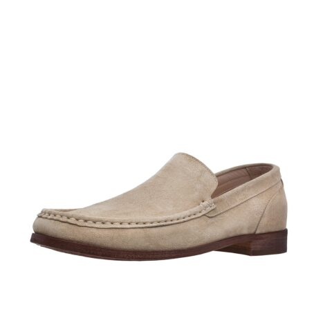 Suede beige loafers for man 3