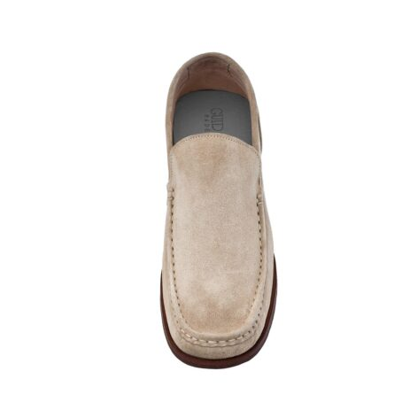 Suede beige loafers for man 2