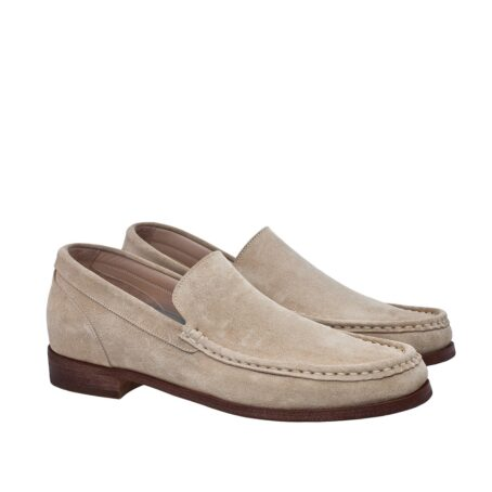 Suede beige loafers for man 1
