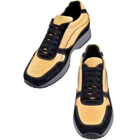 Mustard elevator sneakers for man 4
