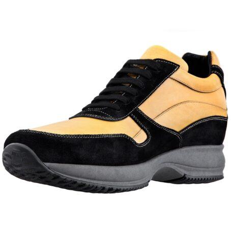 Mustard elevator sneakers for man 3