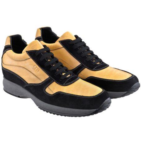 Mustard elevator sneakers for man 1
