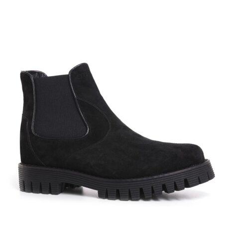 Suede black chelsea shoes 5
