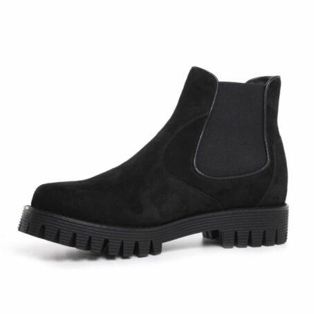 Suede black chelsea shoes 3