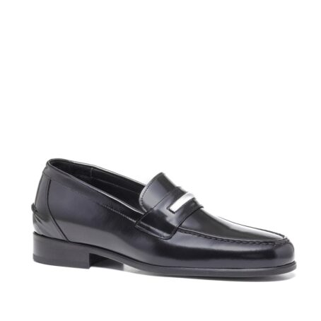 Shiny black loafers shoes 5