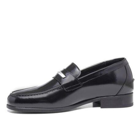 Shiny black loafers shoes 3