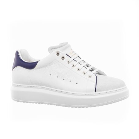 White leather sneakers for man 5