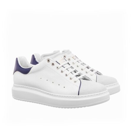 White leather sneakers for man 1