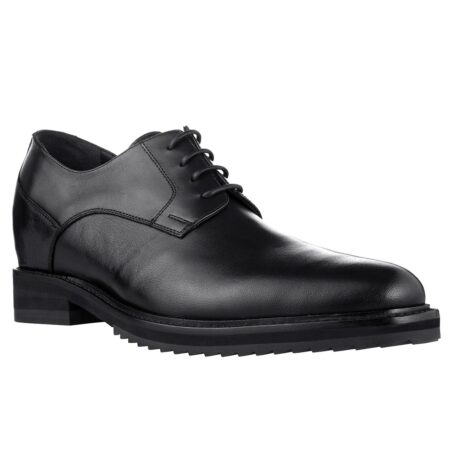 True leather black shoes made in Italy 5