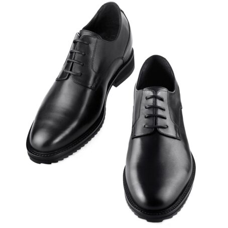 True leather black shoes made in Italy 4