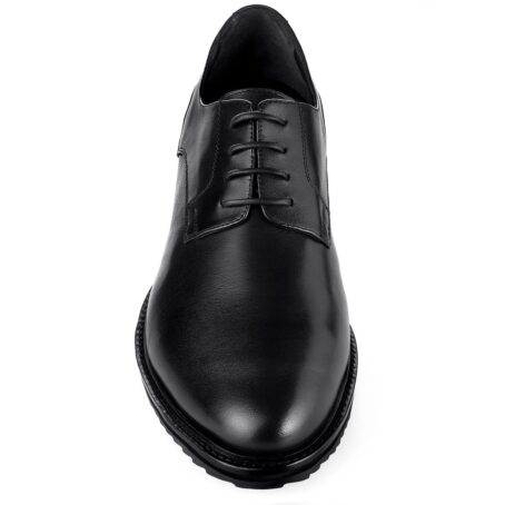True leather black shoes made in Italy 2