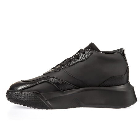 The legend Chunky leather elevator shoe sneaker for men | Guidomaggi Switzerland