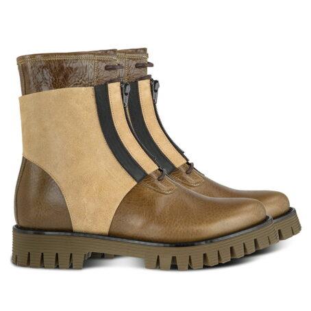 Winter Stiefeln Italienisches Leder mit absatz | Guidomaggi Schweiz