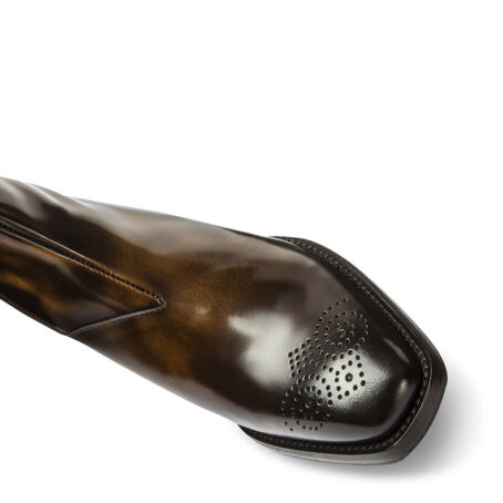 patent boots leather shoes with elevated heel for men | Guidomaggi Switzerland