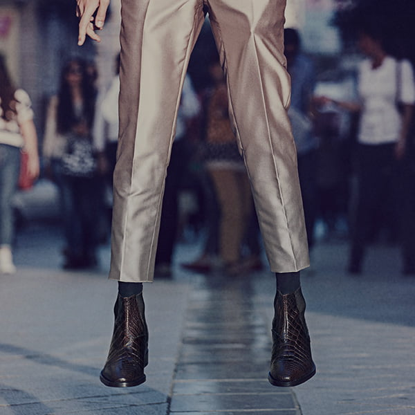 Elegante Schuhe aus Italien, die grösser aussehen